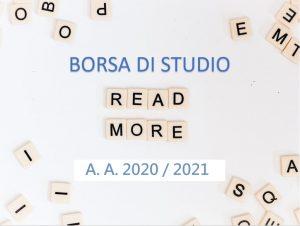 Pubblicazione graduatorie definitive Borse di Studio iscritti primo anno A.A. 2020/2021