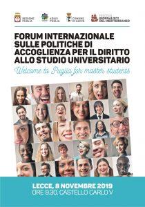 Forum internazionale sulle politiche di accoglienza per il diritto allo studio universitario