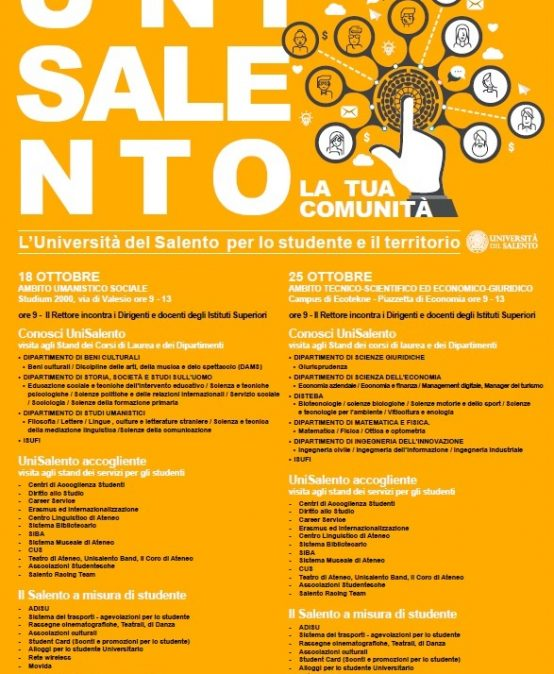 L'ADISU Puglia agli open days dell'Università del Salento