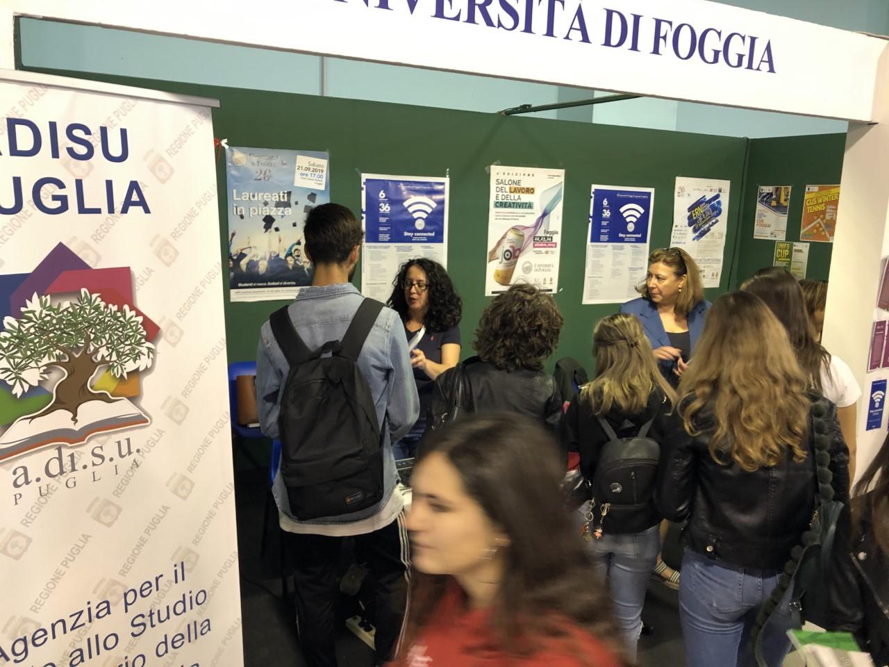 L'ADISU Puglia all'ORIENTA Puglia 2019 di Foggia