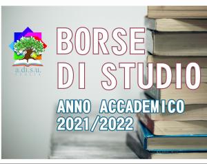 Pubblicazione graduatorie definitive Borse di Studio iscritti agli anni successivi A.A. 2021/2022
