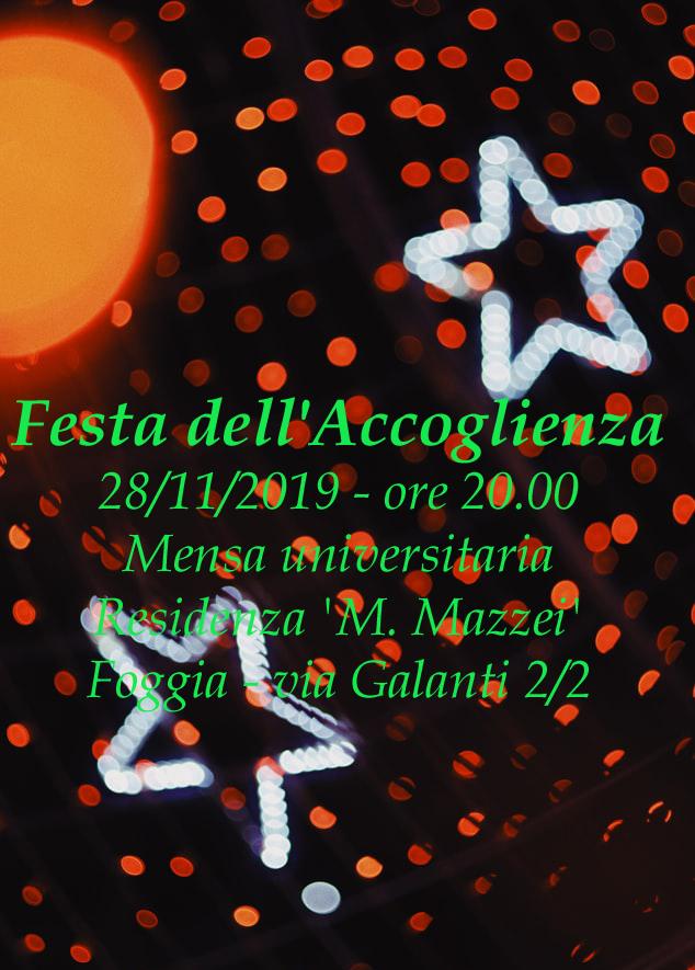 """ADISU Foggia: """"Festa dell'accoglienza 2019"""". Un appuntamento in allegria e spensieratezza, con gli studenti ospiti delle nostre residenze"""