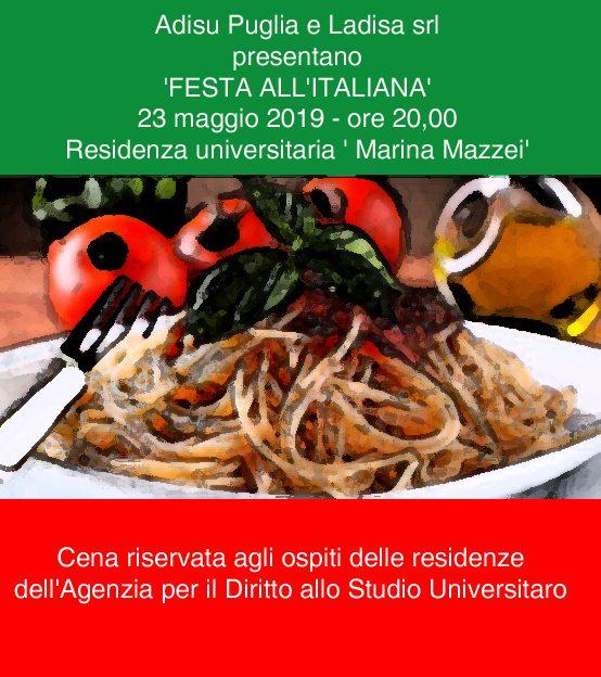 Festa all'italiana presso la mensa di Foggia